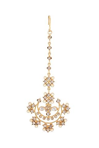 Gold Plated Usiya Maang Tikka by Anita Dongre Silver Jewellery