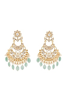 Gold Plated Quartz Stone Mali Earrings by Anita Dongre Silver Jewellery