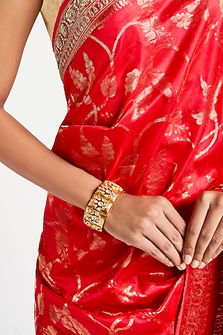 Gold Plated Crystal Sabi Bracelet by Anita Dongre Silver Jewellery