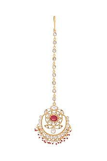 Gold Plated Maanvi Maang Tikka by Anita Dongre Silver Jewellery