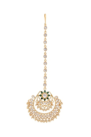 Gold Plated Madha Maang Tikka by Anita Dongre Silver Jewellery
