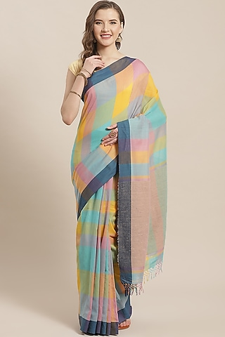 Multi Colored Printed Saree by Aditri