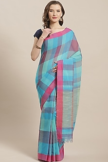 Multi Colored Checkered Saree by Aditri