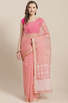 Pink Embroidered Saree by Aditri