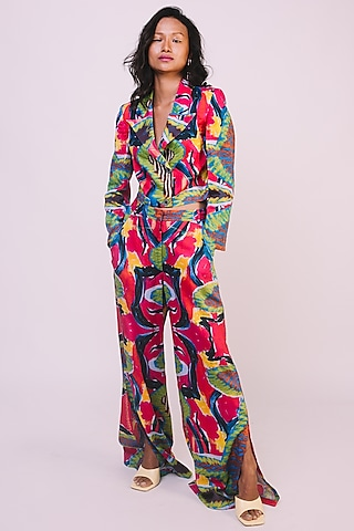 Multi Colored Digital Printed Jacket by Advait