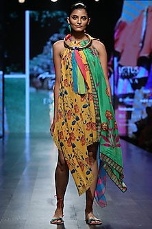 Multicolor Printed Hankerchief Dress by Anupamaa Dayal