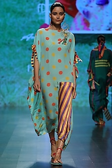 Sky Blue Polka Dot Dress by Anupamaa Dayal