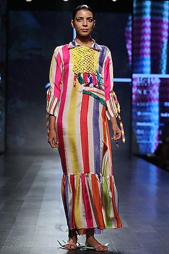 Multicolor Striped Maxi Dress by Anupamaa Dayal