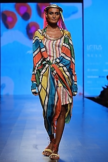 Multi Color Cape with Inner by Anupamaa Dayal