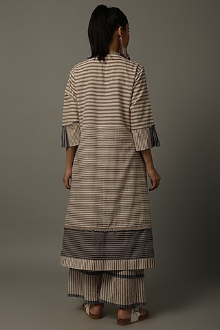 Mud Striped Tunic With Pants by AMITA GUPTA SUSTAINABLE