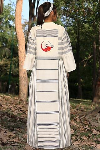 Ivory Handwoven Khadi Cotton Tunic Set by Amita Gupta Sustainable