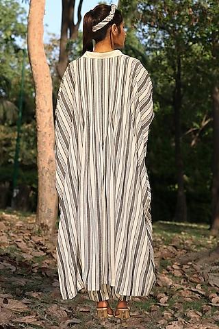 Ivory & Black Embroidered Tunic Set by Amita Gupta Sustainable