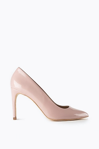 Nude Handmade Leather Pumps by Augustha