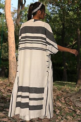 Ivory & Black Embellished Tunic Set by Amita Gupta Sustainable