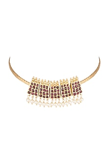 Gold Plated Poothali Necklace by Aaharya