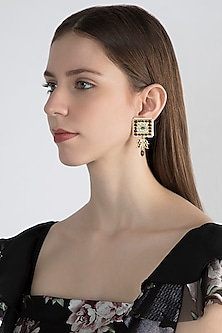 Gold Plated Precious & Semi-Precious Stones Handcrafted Earrings by Aaharya