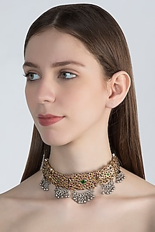 Gold Plated Handcrafted Choker Necklace by Aaharya