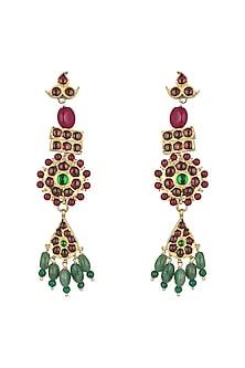 Gold Plated Long Earrings by Aaharya
