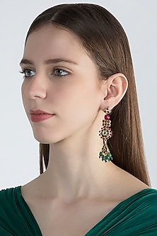 Gold Plated Long Earrings by Aaharya