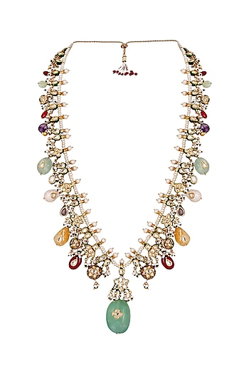 Gold Finish Baroque Pearl Necklace by Anayah Jewellery