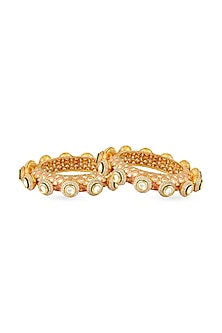 Gold Finish Meenakari Bangle by Anayah Jewellery