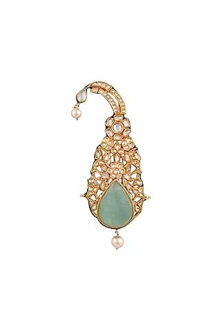 Gold Finish Kalgi Brooch by Anayah Jewellery