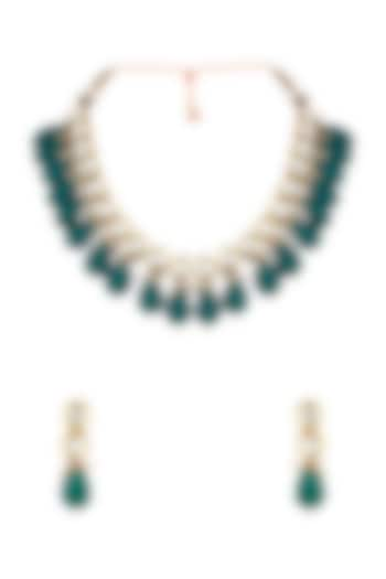 Gold Finish Necklace Set by Anayah Jewellery