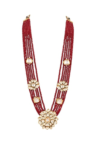Gold Finish Pearl Necklace by Anayah Jewellery