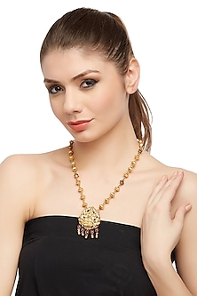 Gold Plated Pendant Necklace by Ahilya Jewels