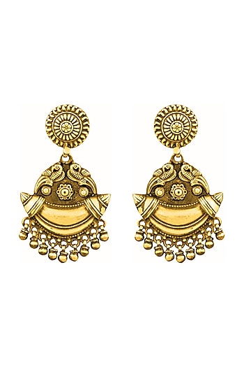 Gold Plated Chandbali Earrings by Ahilya Jewels