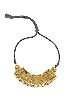 Gold Plated Engraved Choker Necklace by Ahilya Jewels