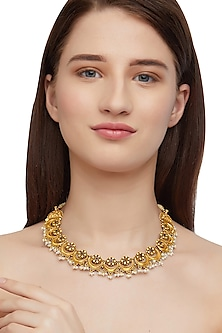 Gold Plated Thushi Choker Necklace by Ahilya Jewels