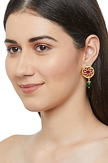 Gold Plated Stud Earrings by Ahilya Jewels
