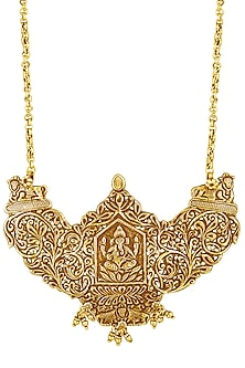 Gold Plated Ganesha Haar Pendant Necklace by Ahilya Jewels