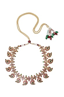Gold Plated Temple Necklace by Ahilya Jewels