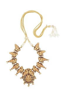 Gold Plated Laxmi Temple Necklace by Ahilya Jewels