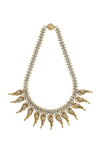 Gold Plated Thick Chain Necklace by Ahilya Jewels