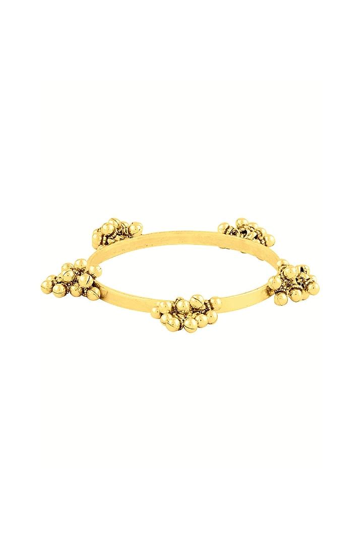 Gold Plated Ghungroo Bangle by Ahilya Jewels