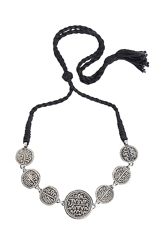 White Finish Bracelet With Sikka Mohurs by Ahilya Jewels
