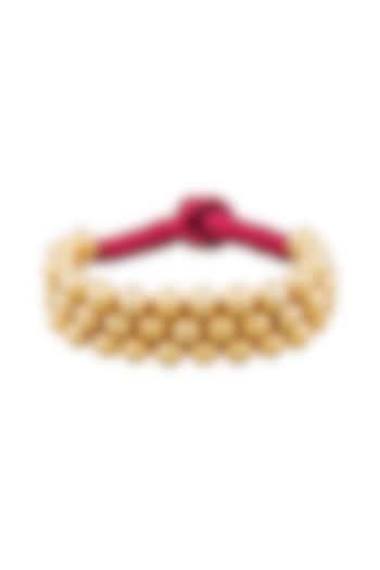 Gold Plated Beaded Armband by Ahilya Jewels