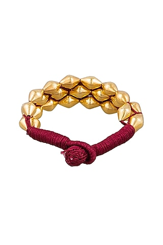 Gold Plated Dholki Beaded Armband by Ahilya Jewels