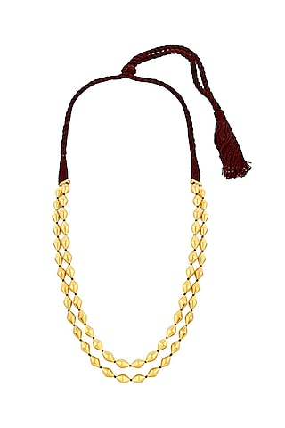 Gold Plated Beaded Necklace by Ahilya Jewels