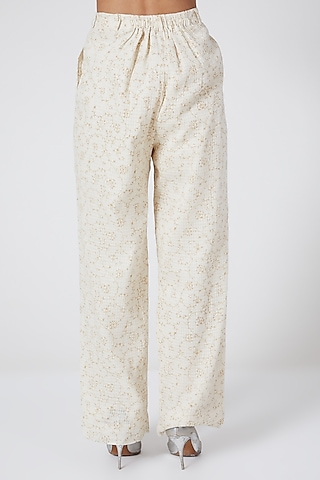 White Checkered Pants by Ahmev