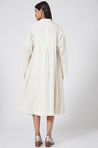 White Printed Jacket by Ahmev