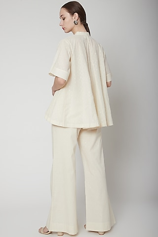 Ivory Top With Lace Detailing by Ahmev