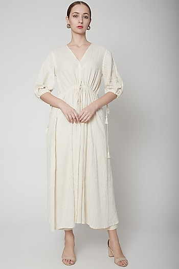 Ivory Overlay With Lace Gathering by Ahmev