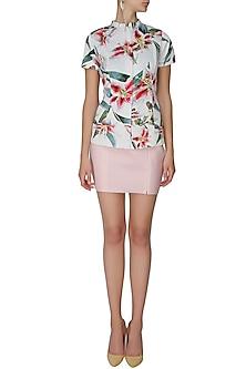 White isla bonita zipper top by Ash Haute Couture