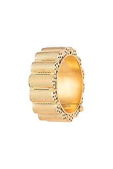Gold Plated Contemporary Gajredar Bangle by Ahilya Jewels