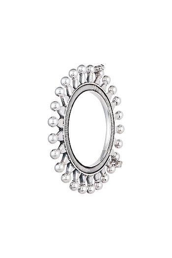 Silver Plated Kada Bangle by Ahilya Jewels