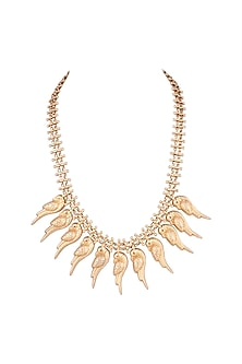 Gold Plated Parrot Necklace by Ahilya Jewels